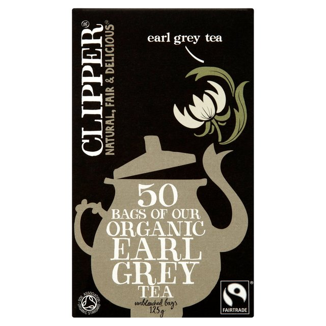 clipper organic earl grey tea bags 50 per pack from ocado. Black Bedroom Furniture Sets. Home Design Ideas
