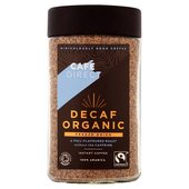 Cafedirect Fairtrade Organic Decaffeinated Instant Coffee