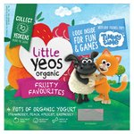 Yeo Valley Organic Little Yeos Fruity Favourites Smooth Yogurts