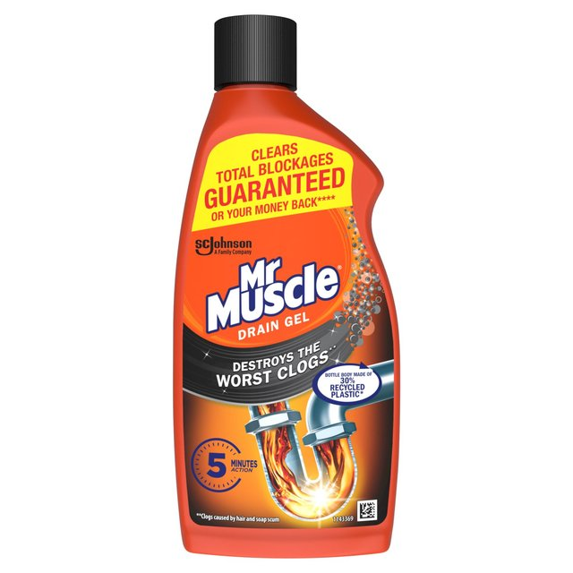 Mr muscle drain power gel for full clogs 500ml from ocado for Mr muscle idraulico gel