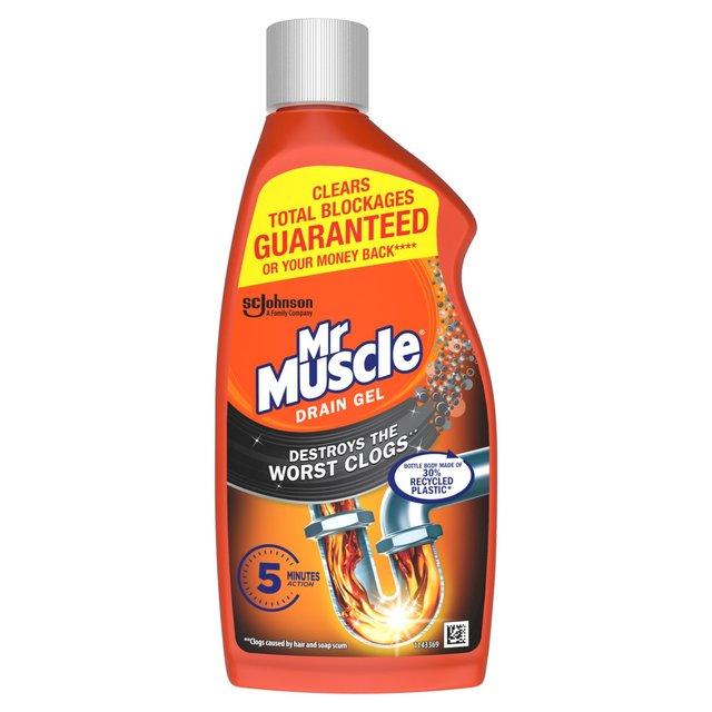 Mr Muscle Drain Power Gel For Full Clogs 500ml From Ocado