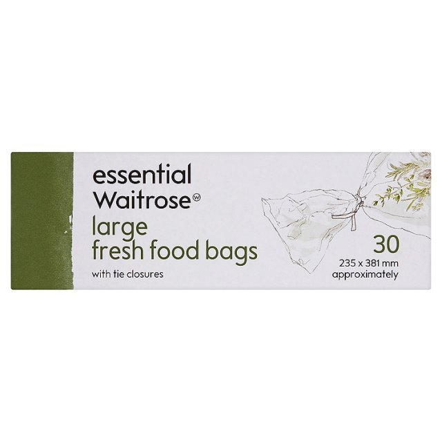 Large Food Bags 235x381mm essential Waitrose