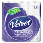 Quilted Velvet White Toilet Tissue