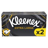 Kleenex Mansize White Tissues Twin Pack