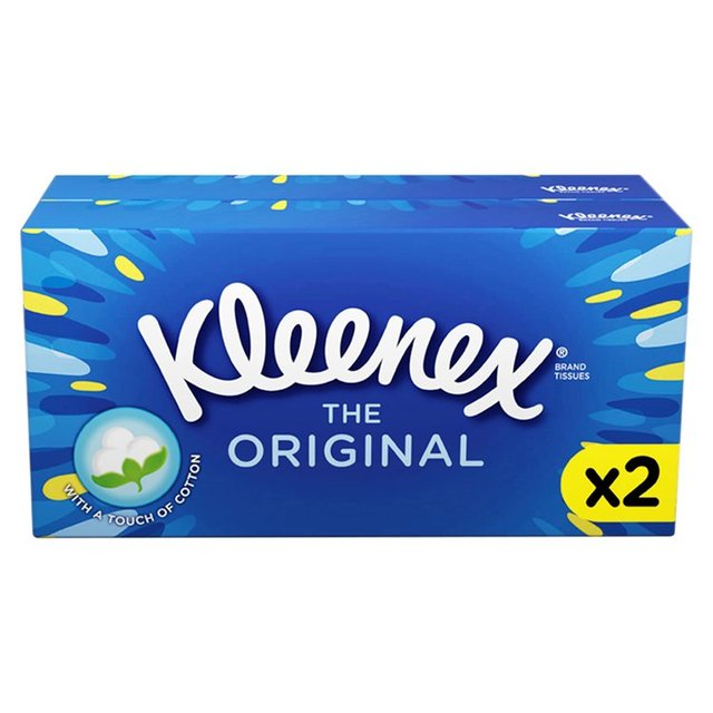 Kleenex Original Regular White Tissues Twin Pack