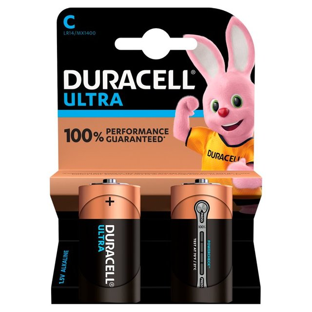Duracell Ultra Power C Alkaline Batteries 2 per pack from ...