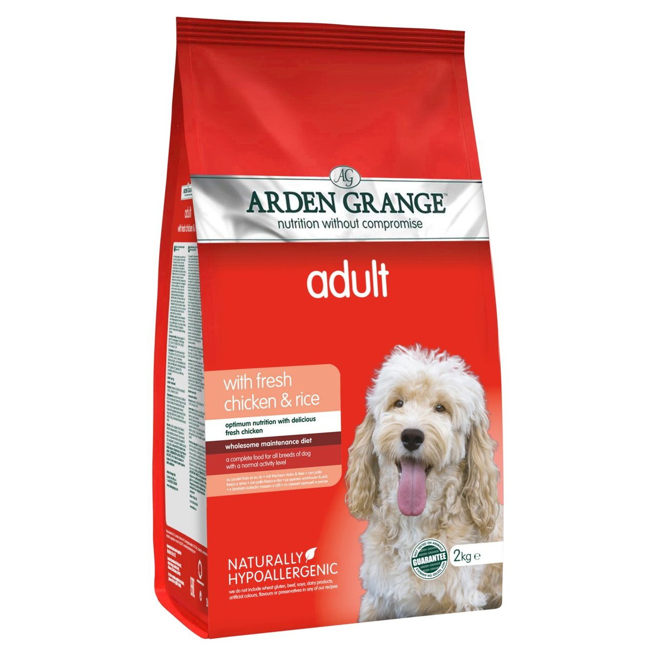 An image of Arden Grange Chicken Adult Dog Food