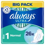 Always Sanitary Towels Ultra Normal Wings