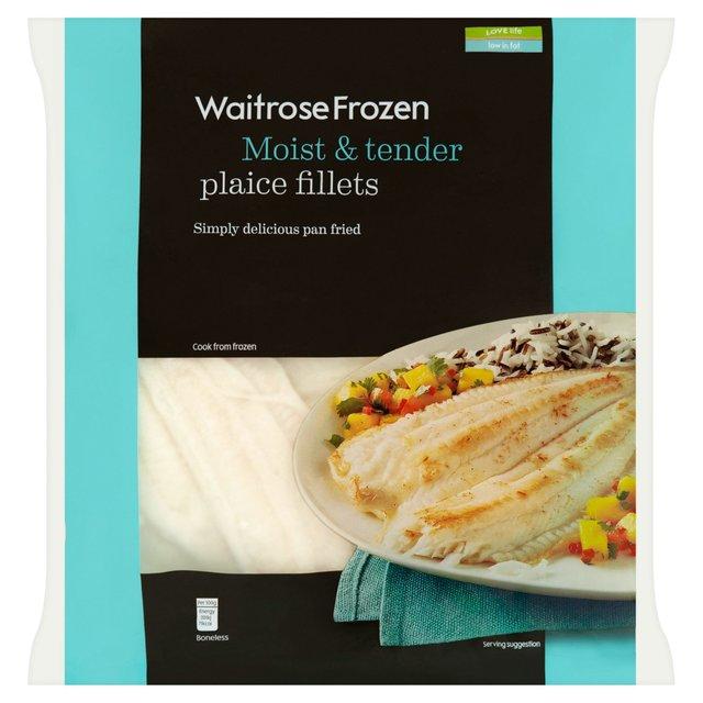 Waitrose frozen icelandic plaice fillets 425g from ocado for Best frozen fish fillets