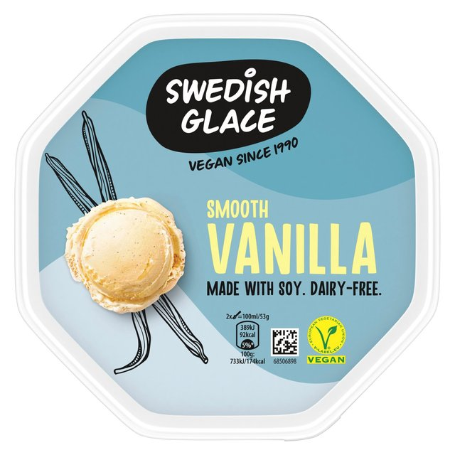 Swedish Glace Soy Smooth Vanilla Dairy Free Ice Cream