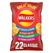 Walkers Classic Variety Crisps 24g x