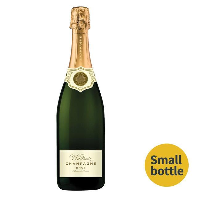 waitrose brut champagne half bottle 37 5cl from ocado