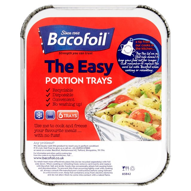 Bacofoil Small Portion Trays & Lids 13x4.1cm