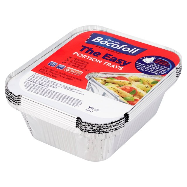 bacofoil small portion trays lids 6 per pack. Black Bedroom Furniture Sets. Home Design Ideas