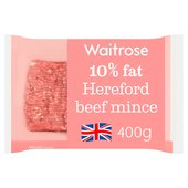 Waitrose Hereford Beef Mince (Typically 10% Fat)