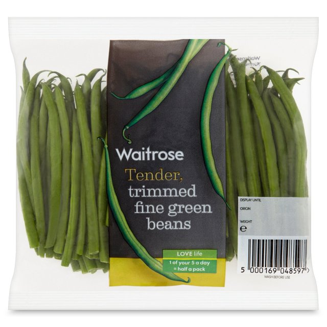 Waitrose Fine Trimmed Green Beans