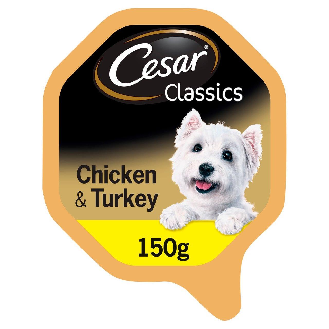 An image of Cesar Classics Tray Chicken & Turkey