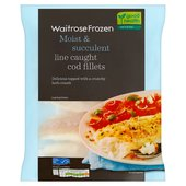 Waitrose Frozen Cod Fillets Line Caught