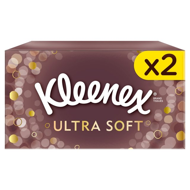 Kleenex Ultra Soft Regular White Tissues Twin Pack