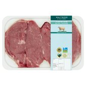 Waitrose 4 Hand Trimmed Lamb Leg Steaks