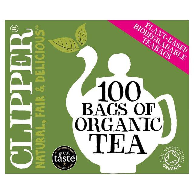 clipper organic everyday tea bags 80 per pack from ocado. Black Bedroom Furniture Sets. Home Design Ideas