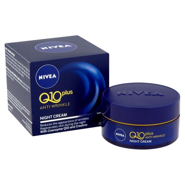 6d7b55b3076 NIVEA Q10 Anti-Wrinkle Night Face Cream 50ml from Ocado