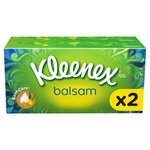 Kleenex Balsam Regular White Tissues Twin Pack