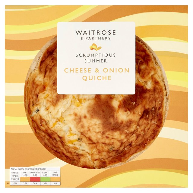 Vintage Cheddar & Onion Quiche Waitrose