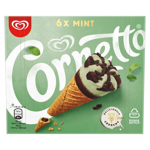 Cornetto Mint Ice Cream Cone Ocado