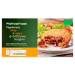 Waitrose Spicy Chilli Bean Burgers Frozen