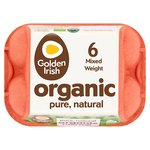 Golden Irish Organic Eggs Mixed Weight Large/Medium