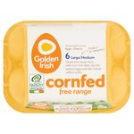Golden Irish Cornfed Free Range Eggs Mixed Weight Large/Medium