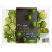 Waitrose Trimmed Brussels Sprouts Sweeter Tasting Variety