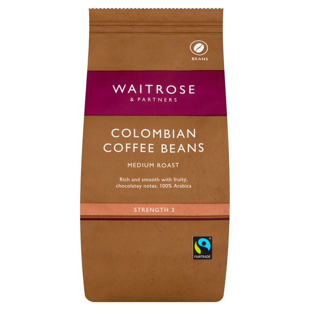 waitrose colombian blend coffee beans 227g from ocado. Black Bedroom Furniture Sets. Home Design Ideas