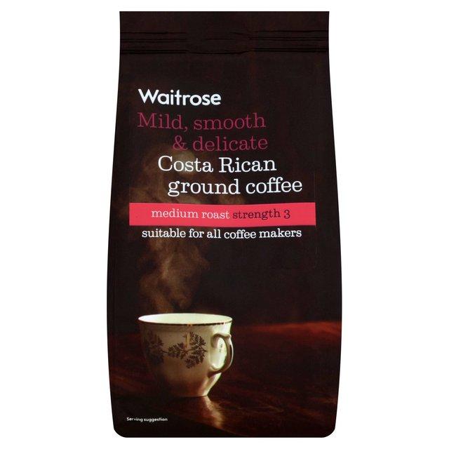waitrose costa rican ground coffee 227g from ocado. Black Bedroom Furniture Sets. Home Design Ideas