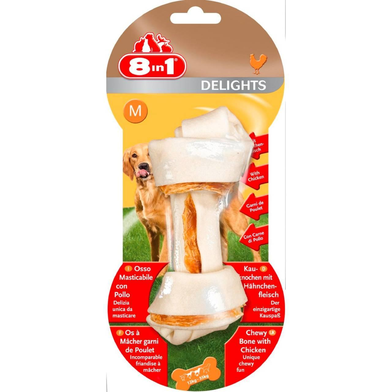 An image of 8 In 1 Products Delights Bone Medium