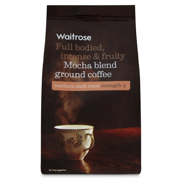waitrose mocha blend ground coffee 227g from ocado. Black Bedroom Furniture Sets. Home Design Ideas