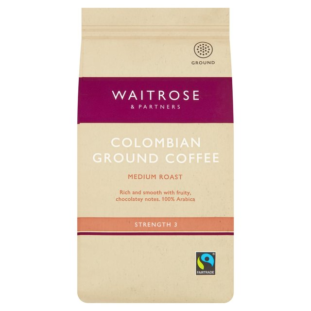 waitrose colombian ground coffee 227g from ocado. Black Bedroom Furniture Sets. Home Design Ideas
