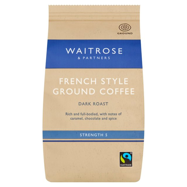 waitrose ground french cafetiere coffee 227g from ocado. Black Bedroom Furniture Sets. Home Design Ideas