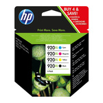 HP No. 920XL 4 Colour Combo (Blk/C/M/Y)