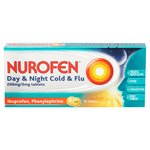 Nurofen Day & Night, Cold & Flu 200mg Tablets