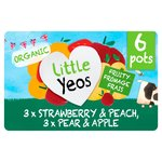 Yeo Valley Little Yeos Strawberry, Peach, Pear & Apple Fromage Frais