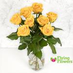 Flying Flowers Short-Stemmed Yellow Roses