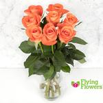 Flying Flowers Short-Stemmed Orange Roses