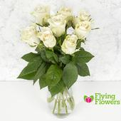 Flying Flowers Short-Stemmed White Roses