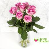 Flying Flowers Short-Stemmed Pink Roses