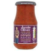 ocado jamie oliver tomato aubergine olive pasta sauce 400g product information. Black Bedroom Furniture Sets. Home Design Ideas