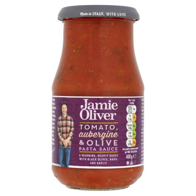 jamie oliver tomato aubergine olive pasta sauce 400g from ocado. Black Bedroom Furniture Sets. Home Design Ideas