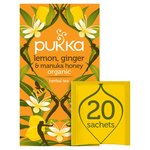 Pukka Organic Lemon Ginger & Manuka Honey Tea Bags