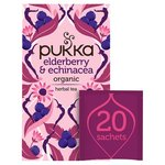 Pukka Herbs Elderberry & Echinacea with Elderflower Tea Bags